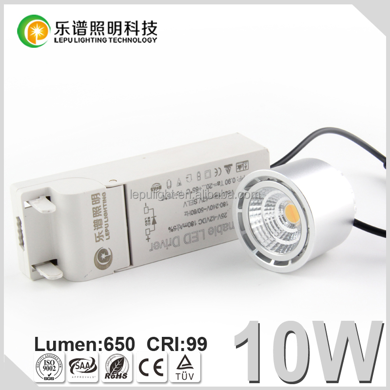 Lepu New Product Ra99 CCT Dimming exteral driver module 8W 10W COB sptolight for Scandinavia