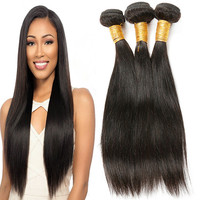 Intact Cuticle Aligned Indian Temple Hair Wholesale, 100 Percent Thick Ends Raw Remy Indian Straight Human Hair