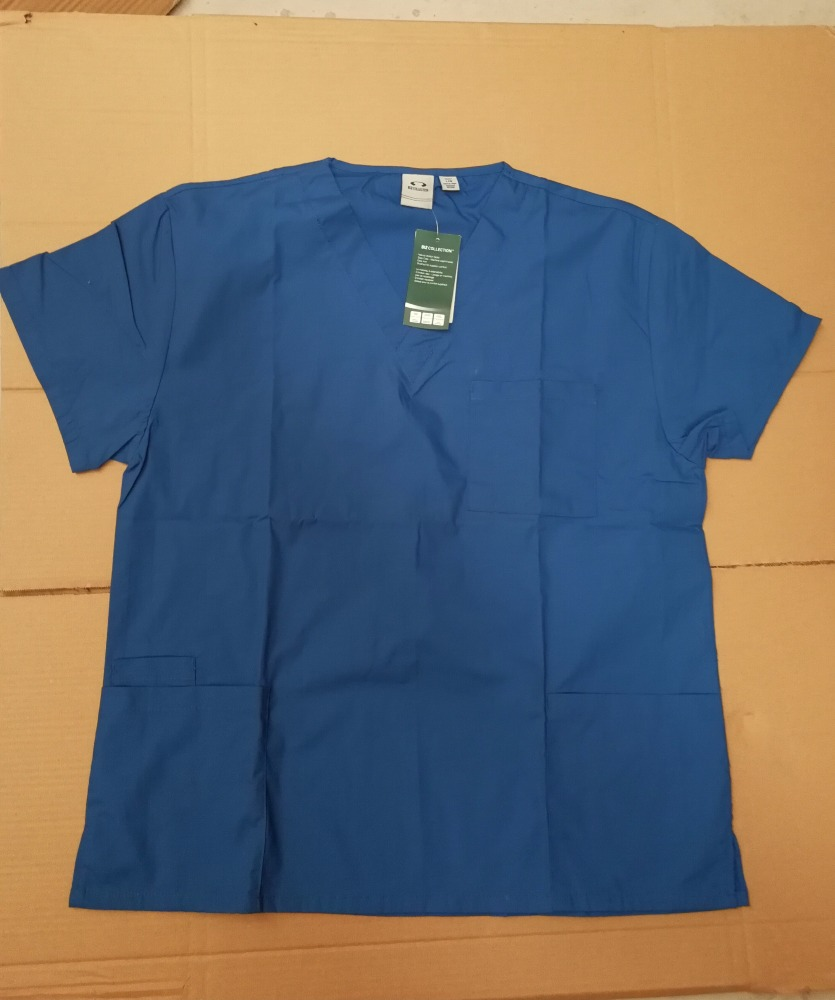 stock lots hospital clothing , Ladies scrubs top, plain colors