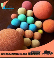 dn80 concrete pump pipeline rubber sponge cleaning ball manufacture
