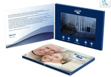 NEW arrival video brochure / video book / video card
