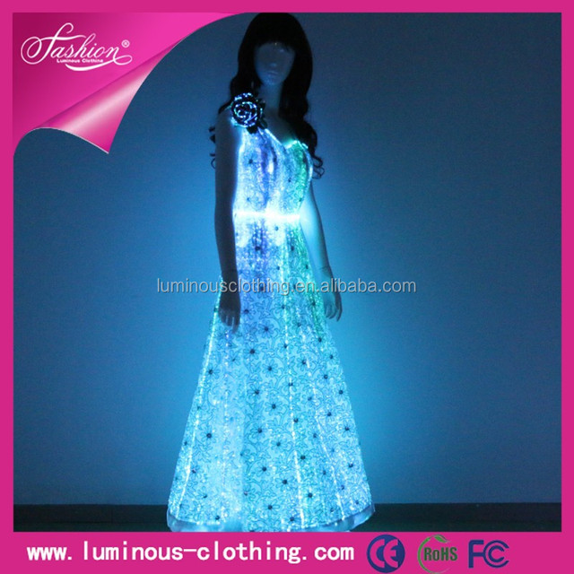 Lights led dance costumes formal ladies casual dresses stores