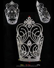 Sweet Rhinestone Large Adult Tiara And Crowns For Pageant H172-131