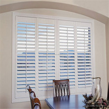 New Design Interior Wooden Sliding Timber Window Louver Shutters