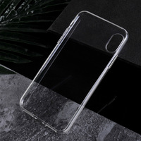 For iPhone X Mobile Phone Transparent TPU Case Soft Crystal Case Clear Back Cover 1.2mm Thickness No Mold Line Lanyard Hole
