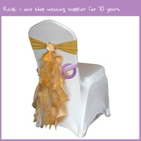 Colorful wedding decor organza fabric chair sashes