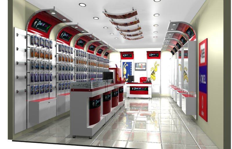 Mobile Gsm Shop Design And Furniture ShopKioksGsm Decoration