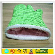 silicone cotton custom oven mitts with 3 finger