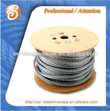 6x36WS+fc stranded wire rope and cables ungalvanized black