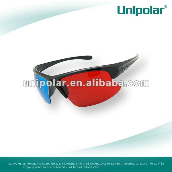 thicken plastic 3D glasses red cyan