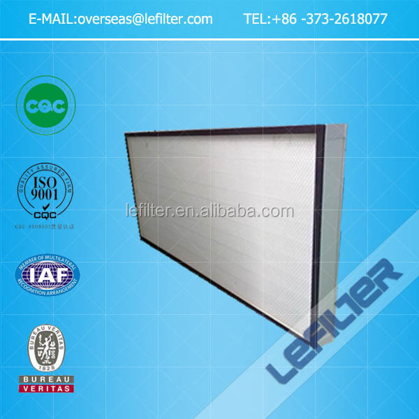 China made metal plate frame Hepa panel air filter