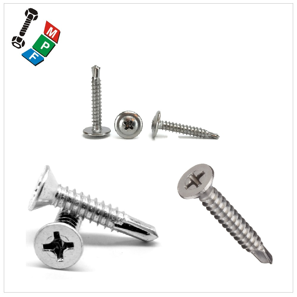 Made in Taiwan Carbon Steel Stainless Steel M4~M12 Self Drilling Screw