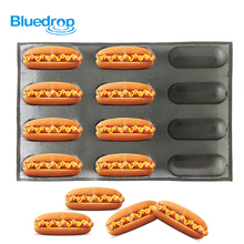 Silicone bread forms hot dog baking molds perforated bakery trays Non stick sheets
