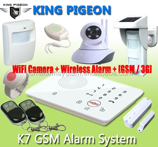 SOS alarm!gsm 99 zones wireless alarm control panel outdoor smoke detector OEM/ODM K7