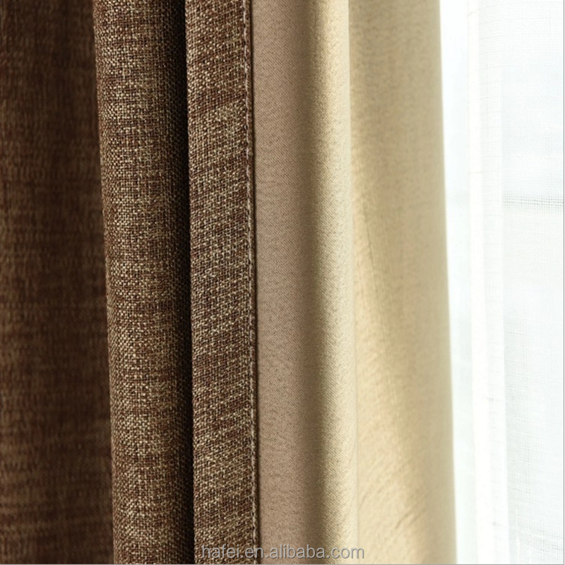 hotel blackout curtain lining 100% polyester blackout fabric