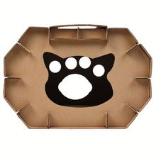 Cardboard Pet Cat House Outdoor Scratcher And Sleep Corrugated Recyclable Box