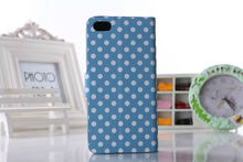 Wholesale for iPhone 5C Wave Point Wallet Leather Case
