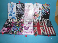 New Flower Flip PU Leather Case For Samsung Galaxy S4 Mini i9190