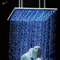 Ceiling shower,1000*1000mm square biggest top rain shower head led