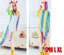 High quality unicorn kigumi animal cosplay adult soft plush pajama
