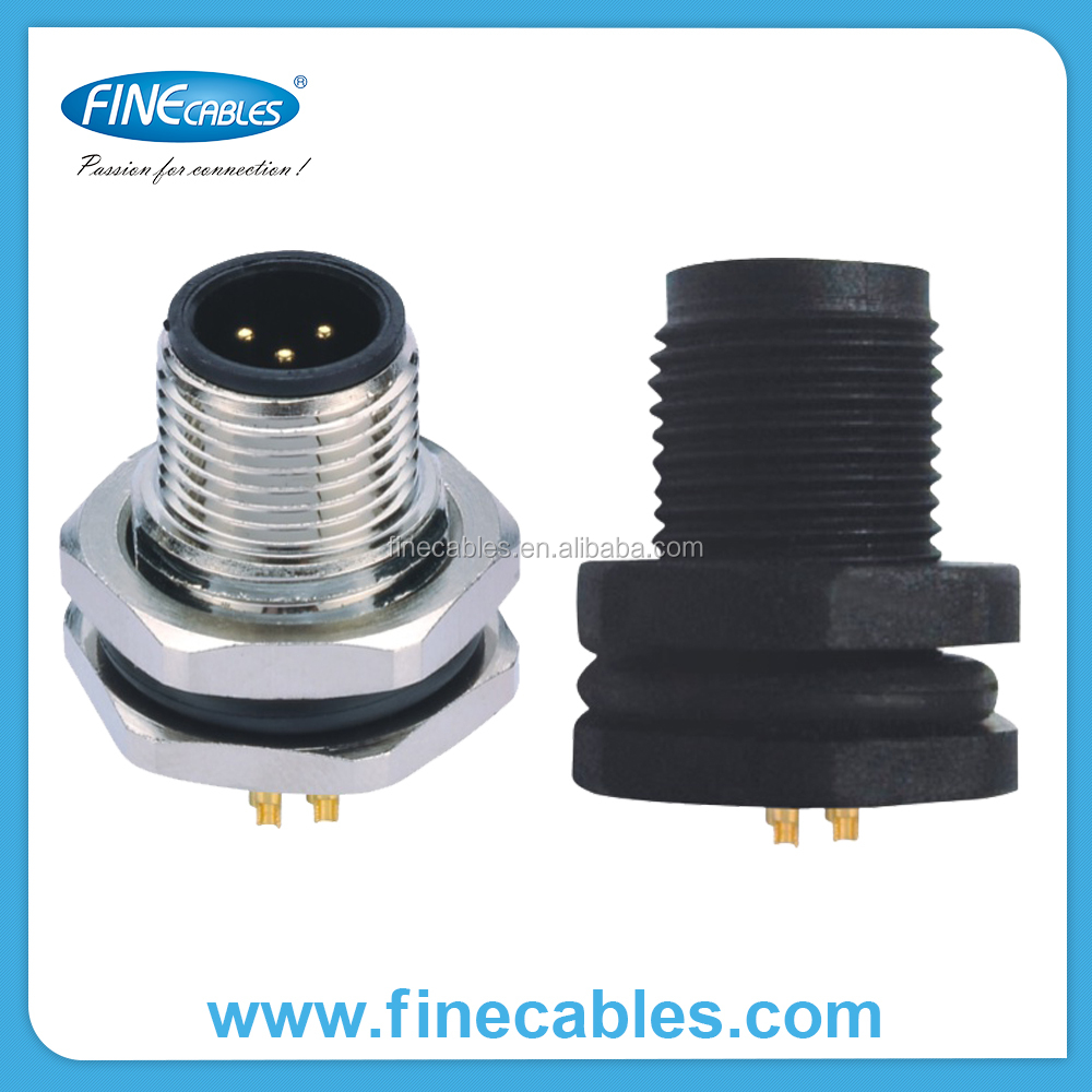 M male panel mount connector copper awg wire gauge
