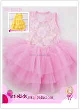 0-10T Princess girl luxurious pageant multilayered icing chiffon party dress baby kids girl ball gown prom dresses wedding dress