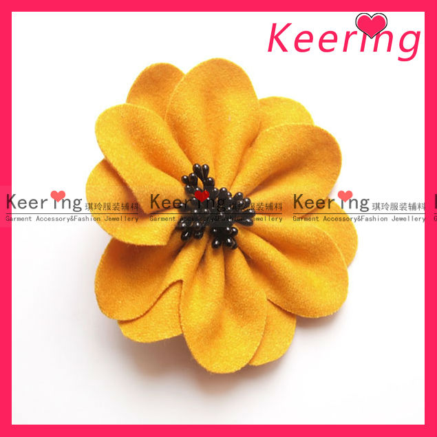 Fashion thick Petal fabric making artificial flowers for hair WBF-101