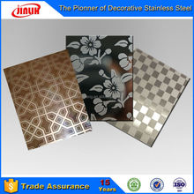 Etched Stainless Steel Checkered Decorative Screen Sheet