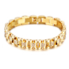 316l Stainless Steel Luxury 18K Gold Chain Bracelet,Fashion Crystal Bracelet