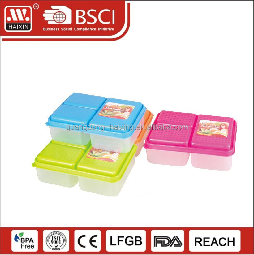 Custom Wholesale Decorative Printed Waterproof Dishwasher Safe Leakproof 1/2/3 Compartments Bento Lunch Boxes with dividers
