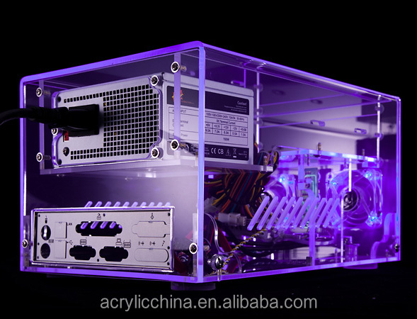 High quality acrylic computer case,transparent acrylic computer pc case