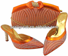 italian shoes and bag set/matching green shoes and bags/orange shoes and bags to match