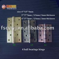 6, 5,and 4 inches furniture 4 ball bearing steel hinges