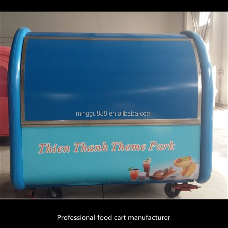 hot dog trailer for sale/Fashional ,Economic ,Electric with more functions Street Food Van/Bbq Food Cart For Sale