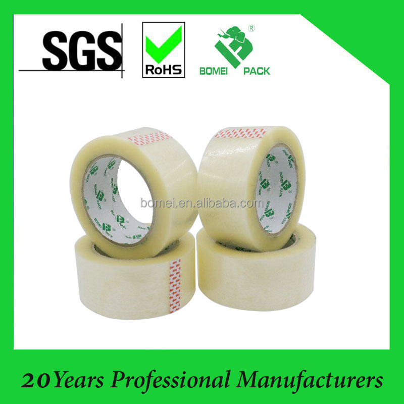free sample bopp film hot melt adhesive packing tape clear