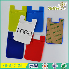 Smart wallet cheap Silicone cell phone business card holder