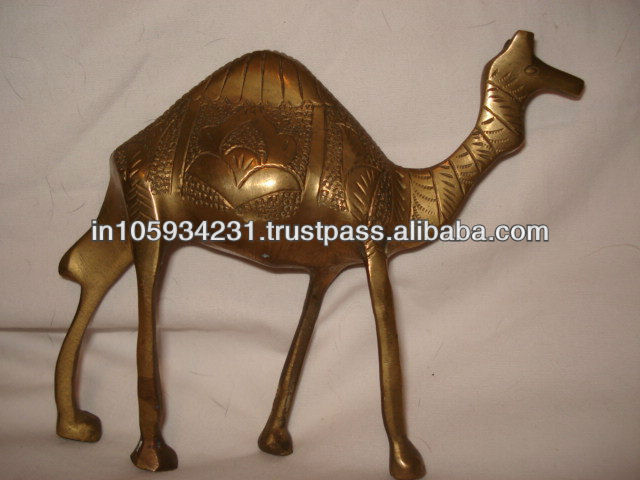 Antique Brass Camel