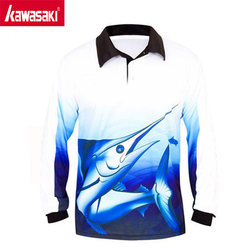 Wholesale 100% Polyester Long Sleeve Tournament Mesh Fishing Shirt Dri Fit Shirts Wholesale