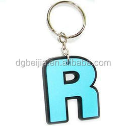 Innovative Rubber rubber alphabet key chain motorcycle BJO-K007