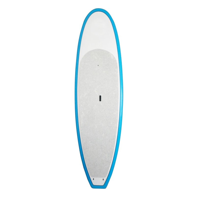 Stylish Surfboard PU/EPS surfboard China manufacturer White Painted Blue Border