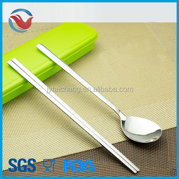 Stainless Steel Korean Spoon and Chopsticks Set