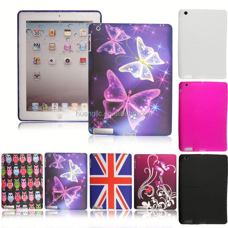 TPU Silicone Printed Gel Case Cover For Apple iPad 2/ 3/ 4/ 5 Air/ Mini / Mini 2