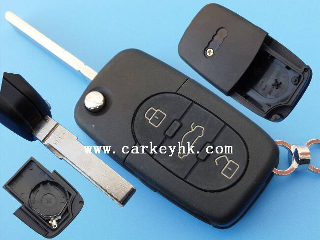 LEDY adi 3 button Adi remote key cover with CR2032 battery holder for round head Adi plastic key