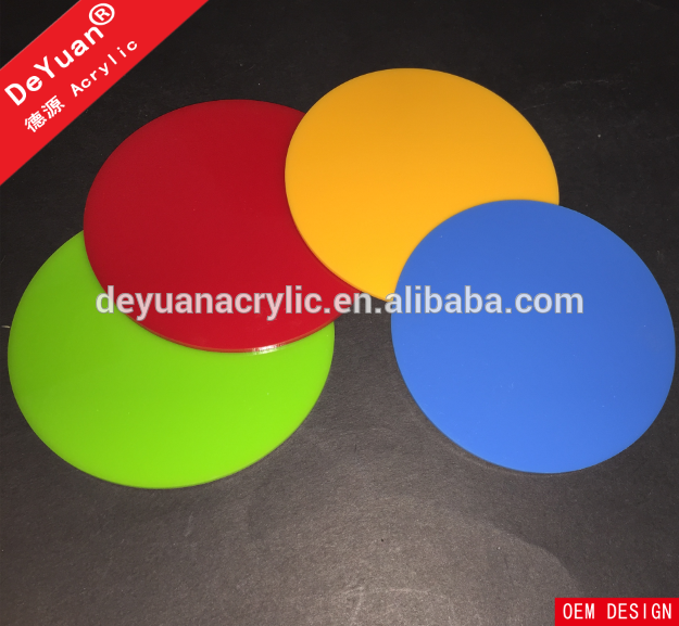 Custom size cheap acrylic colored beer drink coasters