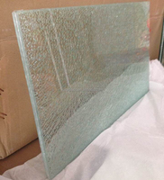 Table top ice cracked Laminated glass with AS/NZS 2208:1996 and EN12150 certificate