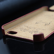 buckle magnet pu leather flip case for iphone 4 4g 5 5s 5c
