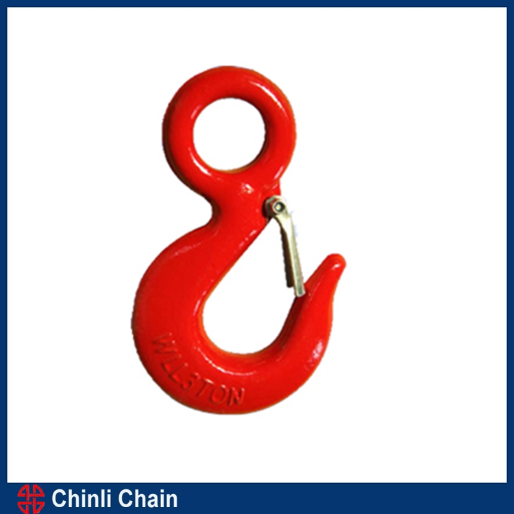 Eye Sling Hooks with Latch ,Heavy Type G80 Eye Safety Hook,Towing Eye Hook Sale