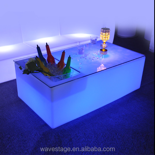 <strong>16</strong> colors change night club luminous led beer bucket table