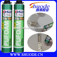low expanding foam sealant suitable for gap filling and auto industry