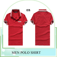 Customize 100% cotton casual sport Polo T shirts short sleeves Polo T shirts for Men red color turn down collar Polo Shirt